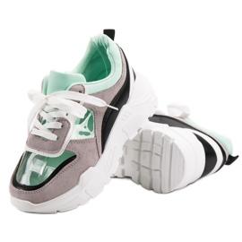 Transparentne Sneakersy Na Platformie szare 4