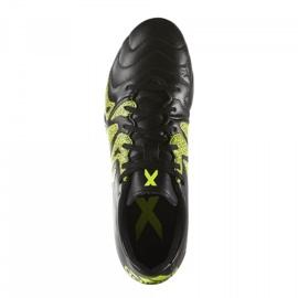 Buty piłkarskie adidas X 15.3 FG/AG Leather B26971 czarne czarne 1