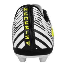 Buty piłkarskie adidas Nemeziz 17.4 FxG Jr S82459 białe wielokolorowe 2