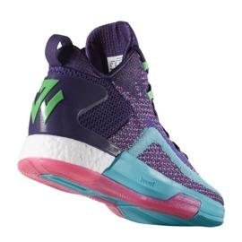 Buty koszykarskie adidas John Wall 2 Boost Prime Knit M D70028 wielokolorowe fioletowe 1