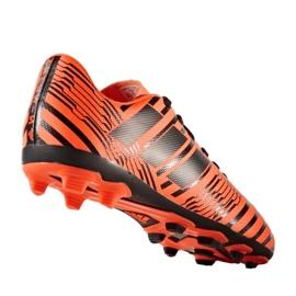 Buty piłkarskie adidas Nemeziz 17.4 FxG Jr S82460 pomarańczowe pomarańczowe 1