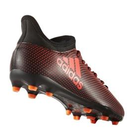 Buty piłkarskie adidas X 17.3 Fg Jr S82368 wielokolorowe czerwone 1