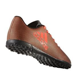 Buty piłkarskie adidas X 17.4 Tf Jr S82422 pomarańczowe wielokolorowe 1