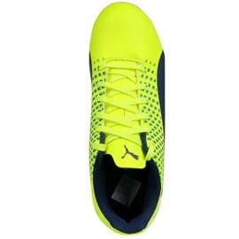 Buty piłkarskie Puma Adreno Iii Fg Safety Junior 104049 10 zielone złoty 1