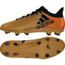Buty piłkarskie adidas X 17.3 Fg M CP9190 złoty, czarny wielokolorowe 2