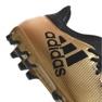 Buty piłkarskie adidas X 17.3 Ag M CP9233 złoty, czarny złoty 2
