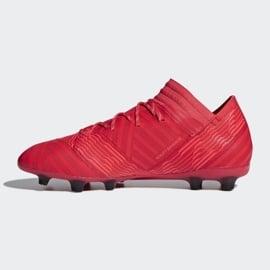 Buty piłkarskie adidas Nemeziz 17.2 Fg M CP8971 czerwone czerwone 1