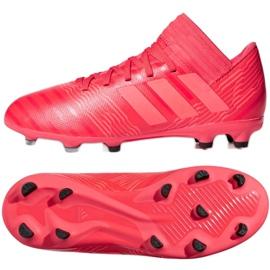 Buty piłkarskie adidas Nemeziz 17.3 Fg Jr CP9166 czerwone czerwone 2