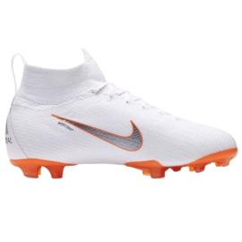 Buty piłkarskie Nike Mercurial Superfly 6 Elite Fg Jr AH7340-107 białe białe 1