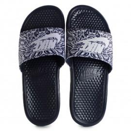 Klapki Nike Benassi Just Do It Print 631261-403 czarne 1