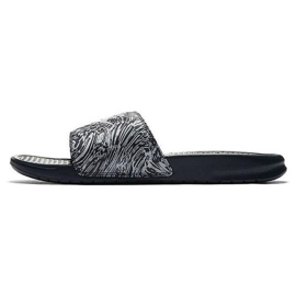 Klapki Nike Benassi Just Do It Print 631261-403 czarne 2