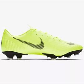 Buty piłkarskie Nike Mercurial Vapor 12 Pro Fg M AH7382-701 żółte żółte 1