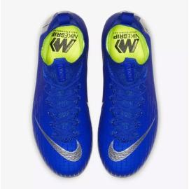 Buty piłkarskie Nike Mercurial Superfly 6 Elite Fg Jr AH7340-400 niebieskie niebieskie 2