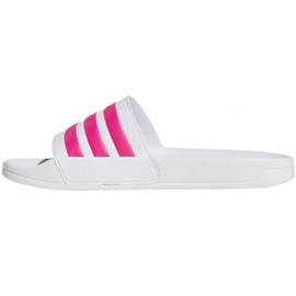 Klapki adidas Adilette Shower F34914 białe różowe 1