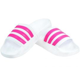Klapki adidas Adilette Shower F34914 białe różowe 2