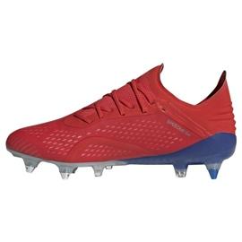 Buty piłkarskie adidas X 18.1 Sg M BB9359 czerwone czerwone 1