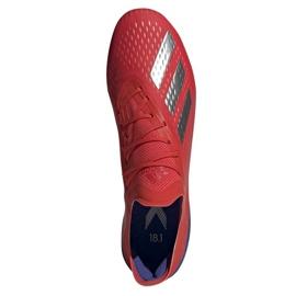 Buty piłkarskie adidas X 18.1 Sg M BB9359 czerwone czerwone 2