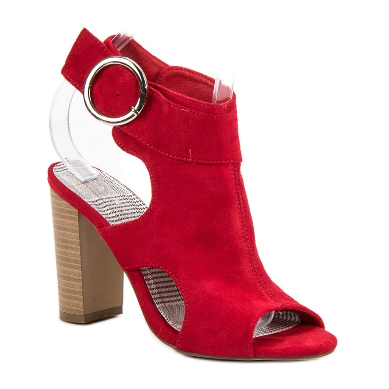 Erynn Czerwone Sandały Na Słupku zdjęcie 3