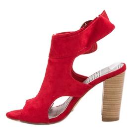 Erynn Czerwone Sandały Na Słupku 4