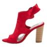 Erynn Czerwone Sandały Na Słupku zdjęcie 4
