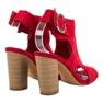 Erynn Czerwone Sandały Na Słupku zdjęcie 5