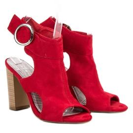 Erynn Czerwone Sandały Na Słupku 6