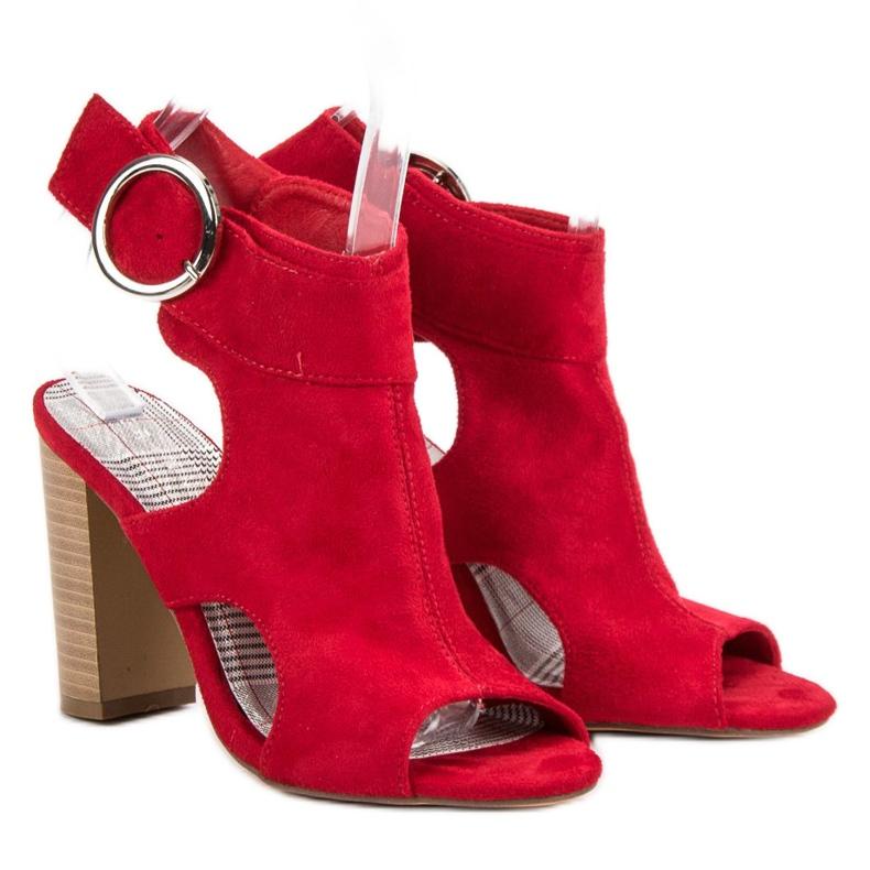 Erynn Czerwone Sandały Na Słupku zdjęcie 6