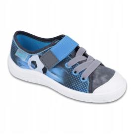 Befado obuwie dziecięce 251Y120 niebieskie szare 1