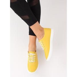 Trampki damskie żółte WD009 Yellow 1