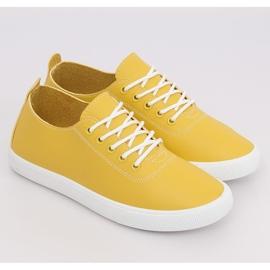 Trampki damskie żółte WD009 Yellow 3
