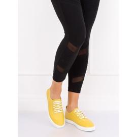 Trampki damskie żółte WD009 Yellow 2