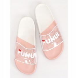 Klapki damskie różowe ZD807 Pink 4