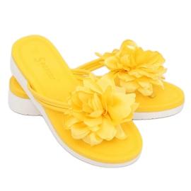 Japonki z kwiatem żółte CK103 Yellow 1
