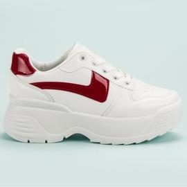 Kylie Sneakersy Na Platformie białe 3