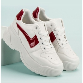 Kylie Sneakersy Na Platformie białe 2