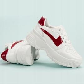 Kylie Sneakersy Na Platformie białe 6