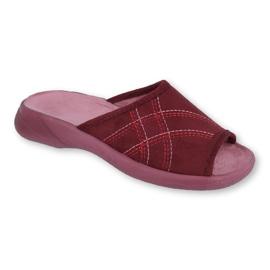Befado obuwie damskie pu 442D146 wielokolorowe czerwone 1