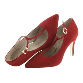 Czółenka damskie czerwone Caprice 24400 5