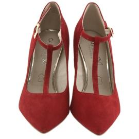 Czółenka damskie czerwone Caprice 24400 3