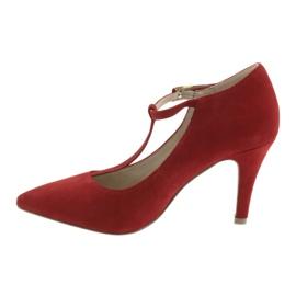 Czółenka damskie czerwone Caprice 24400 2