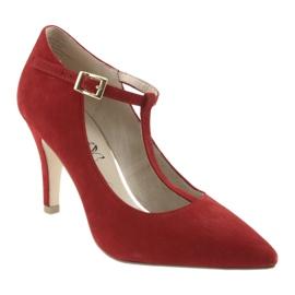 Czółenka damskie czerwone Caprice 24400 1
