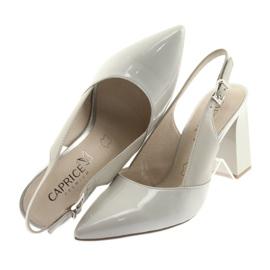 Sandały damskie na słupku Caprice 29604 szare 6