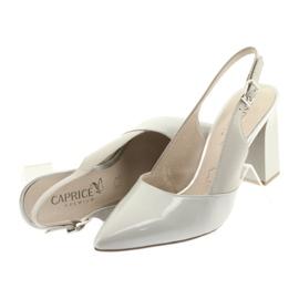 Sandały damskie na słupku Caprice 29604 szare 5