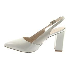 Sandały damskie na słupku Caprice 29604 szare 2
