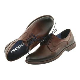 Pantofle męskie brązowe Nikopol 1712 5