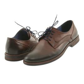 Pantofle męskie brązowe Nikopol 1712 4