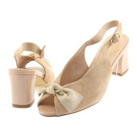 Sandały zamszowe kokarda Sergio Leone 801 brązowe 4