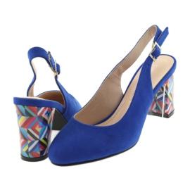 Sandały na słupku Sergio Leone 788 indigo mic niebieskie 4