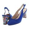 Niebieskie Sandały na słupku Sergio Leone 788 indigo mic zdjęcie 4