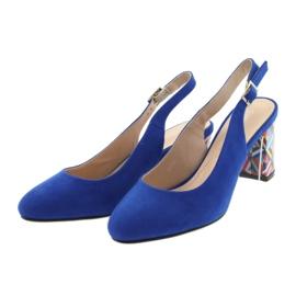 Sandały na słupku Sergio Leone 788 indigo mic niebieskie 3